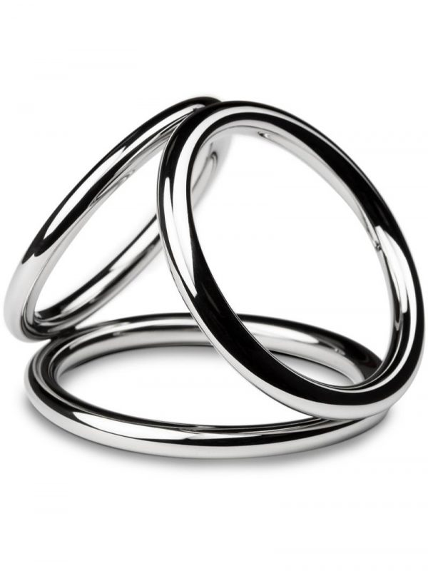 Sinner: Triad Champer Metal Cock and Ball Ring