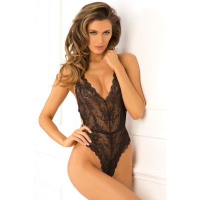 Spank Me Strap-Back Lace Teddy