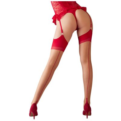 Stockings Nude w. Red Seam
