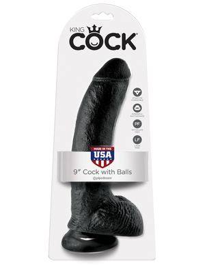 King Cock With Balls 9 inch Black från King Cock.